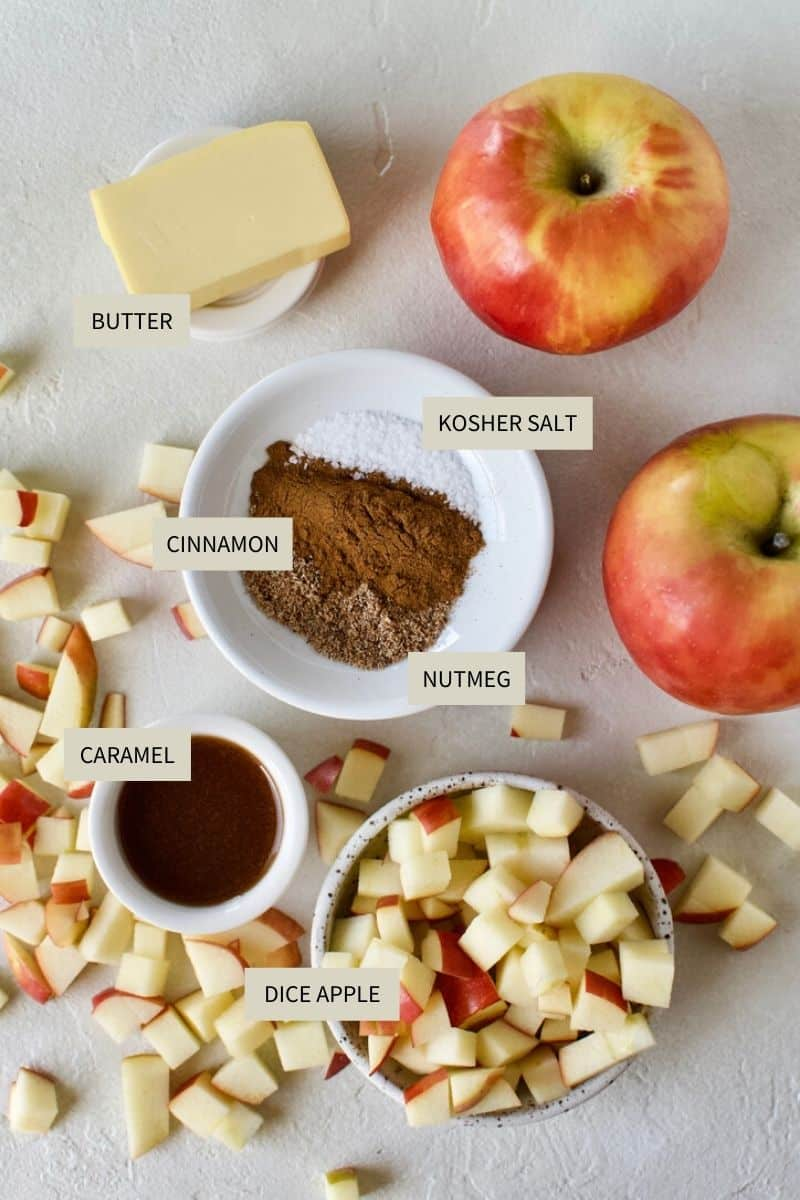 Ingredients needed to make Apple Hand Pies.