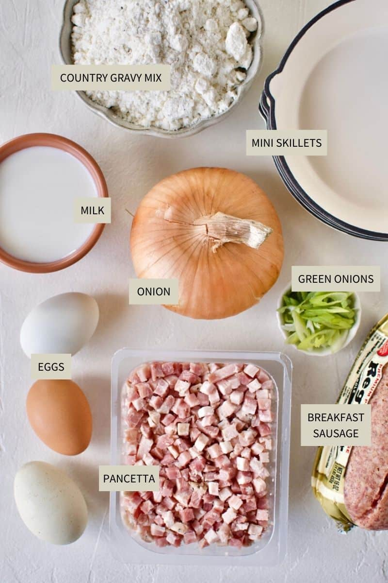 Ingredients needed to make Breakfast Pie.